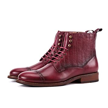 0b50743be982 Amazon.com: Hemei Men's Leather Boots 2018 Fall Winter New Casual ...