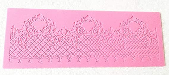 FOUR-C Baking Decorating Embossing Silicone Mat Lace Cake Pad MJ-MHC-062