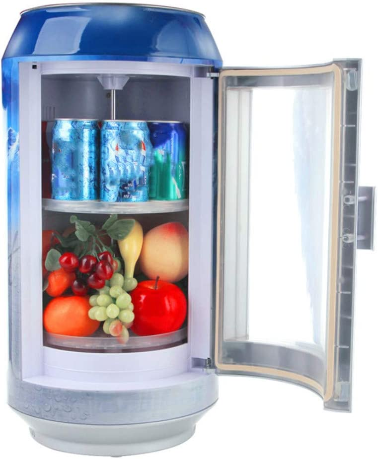Refrigerador del coche, pequeño mini refrigerador portátil azul ...