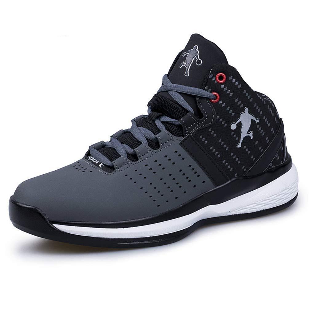 ZHRUI Männer Basketball Schuhe Paar Midium Cut Basketball Turnschuhe Männliche Sportschuhe (Farbe   Schwarz, Größe   8=42 EU)