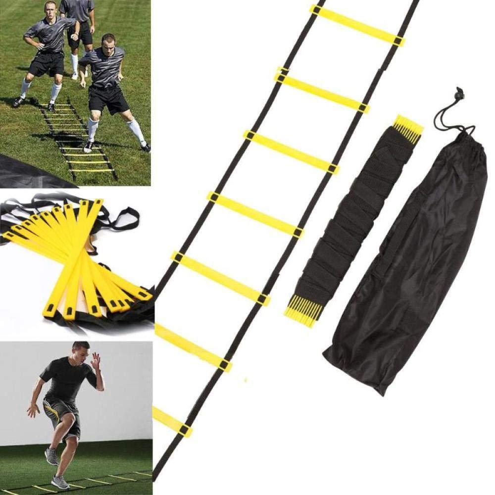 Generic /Échelle de Vitesse dagilit/é de Formation de Sangles en Nylon /à 8 rang/ées 12 Pieds 4 m pour /équipement de Conditionnement Physique dentra/înement de Vitesse de Football