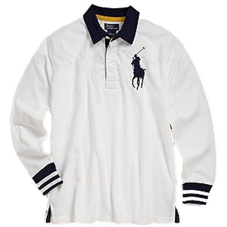 Ralph Lauren para niños de manga larga big Polo Rugby T-shirt ...