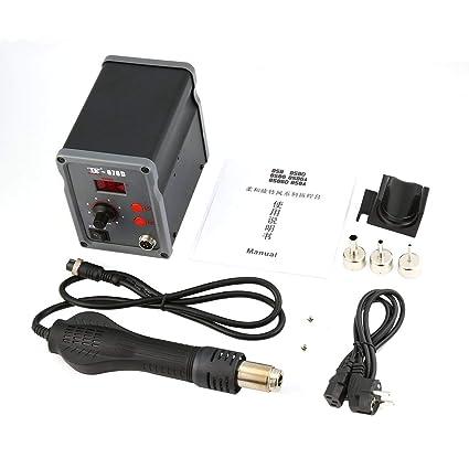 TAIKD Estación de soldadura digital Soplador de aire caliente Pistola de calor Soldadura Soldadura Herramienta de