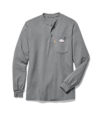 bde711f04525 Image Unavailable. Image not available for. Color  Rasco FR Gray Henley T- Shirt 100% Preshrunk Cotton ...