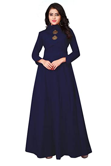 f4cdda499665 Leriya Fashion Women s Gown Type Full Sleeve Ankle Length Anarkali ...