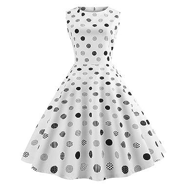 65280b235b8 Beikoard - Robes Femme à Audrey Hepburn Classique Rétro Style Halter années  50 60 de soirée