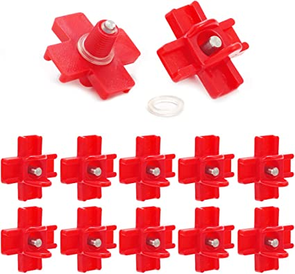 10 Horizontal Side Mount Chicken Nipples Water Automatic Poultry