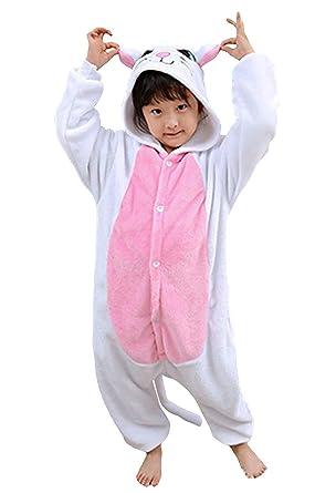 Niños Pijama Kigurumi Animal Cosplay Disfraces Animados Gato ...