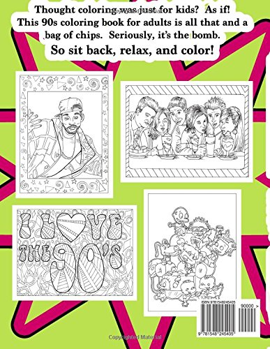 Amazon Com 90s Adult Coloring Book 1990s Inspired Coloring Book