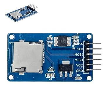 Teohk 3PCS Lector de Tarjetas Micro SD Módulo 3.3V a 5V Adaptador ...