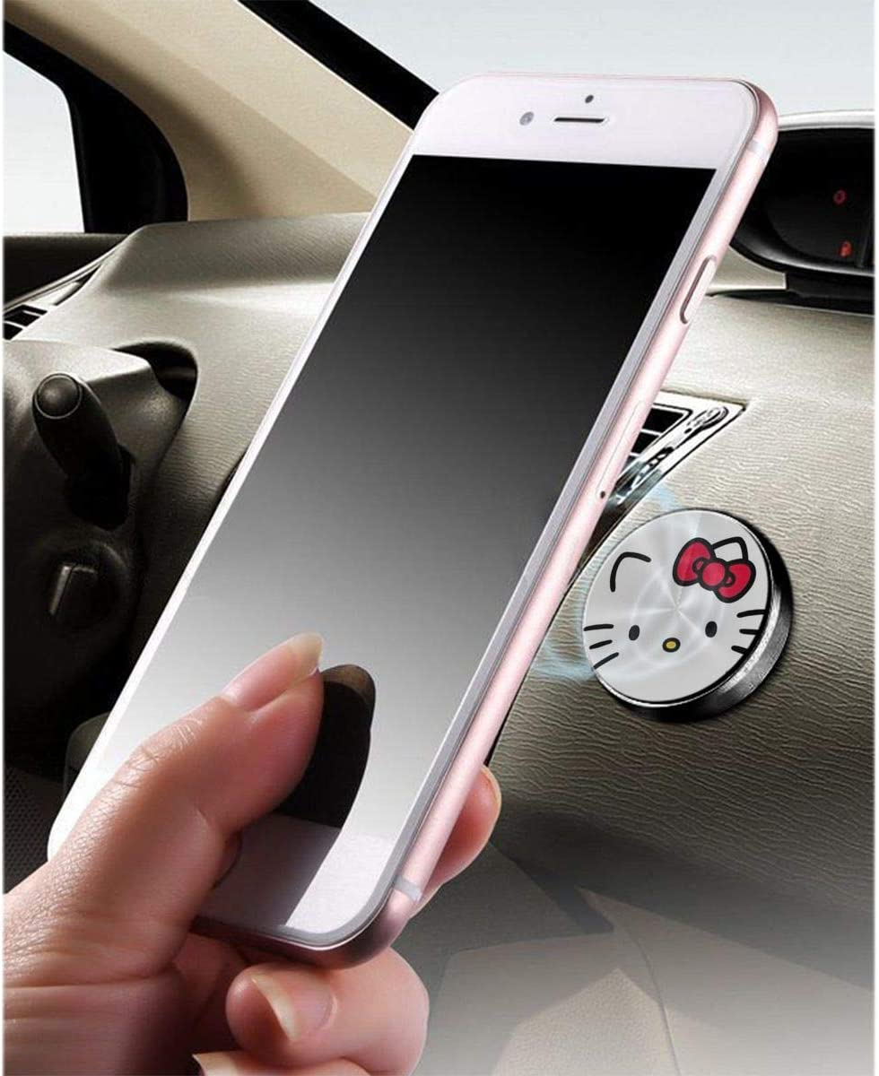 Hello Kitty Aluminium Alloy Magnetic Car Mount Magnetic Car Mount Phone Holder,for Cell Phones and Mini Tablets Suit for Any Phone