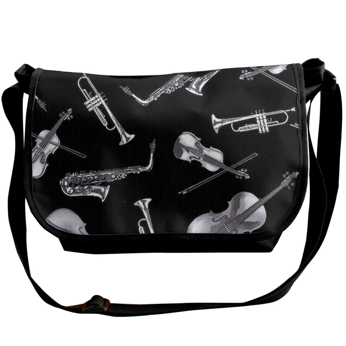 Futong Huaxia Cool Saxophone Background Travel Messenger Bags Handbag Shoulder Bag Crossbody Bag Unisex