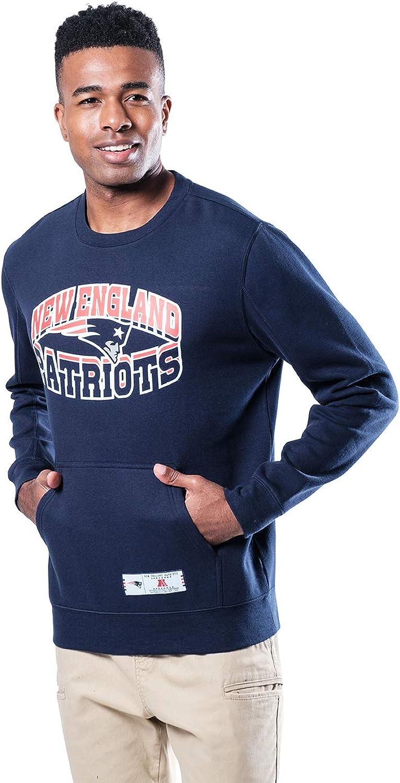 Ultra Game NFL Men's Soft Fleece Crew Sweatshirt