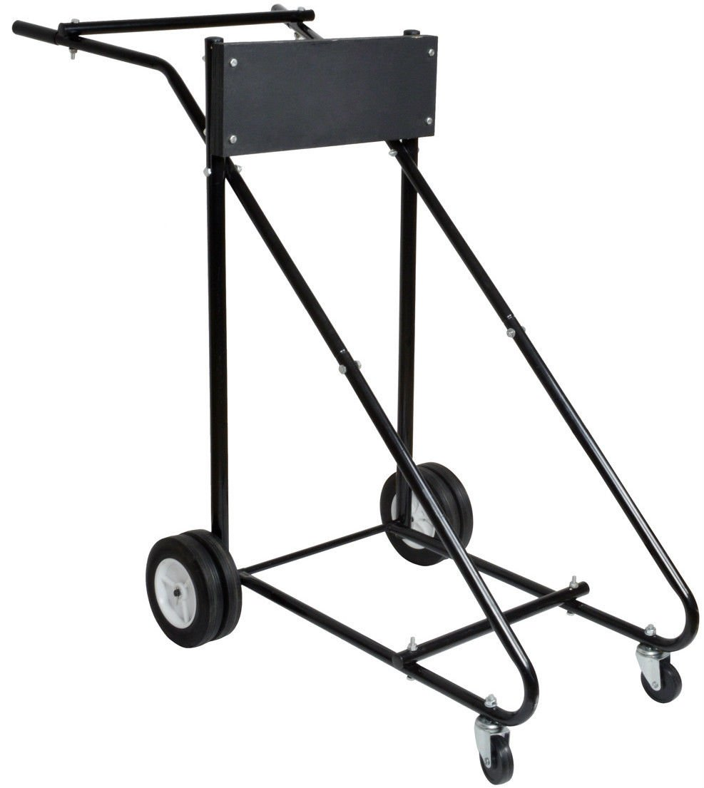 GHP 315 Lb 1 1/4'' and 1'' Steel Tube Frame Outboard Boat Motor Stand Carrier Cart