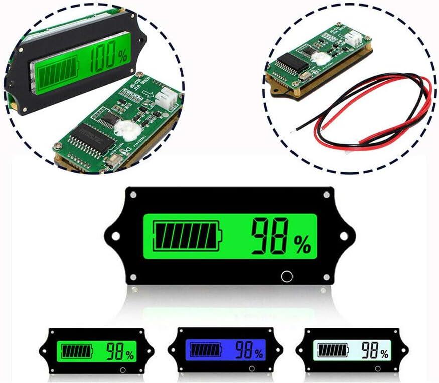 Pour fer phosphate Voltm/ètre LCD Powertool Testeur de capacit/é de batterie au plomb-acide vert lithium
