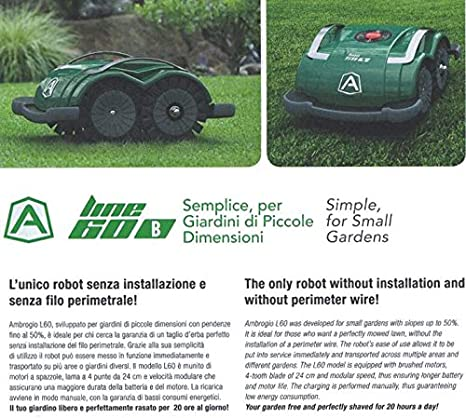 Ambrogio L60 Zucchetti Cortacésped: Amazon.es: Bricolaje y ...