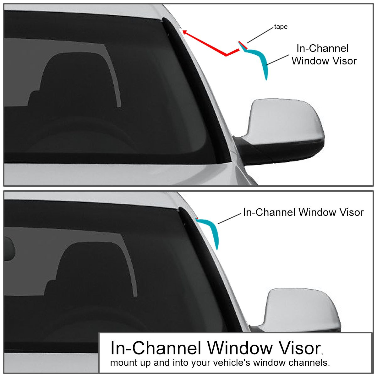 DNA MOTORING WVS-T2-0149 Window Visor Rain Guard 93-12 Ford Ranger
