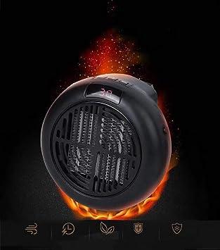 HSC Calentador portátil/Estufa del Templo/Calentador de Gas eléctrico casero para la Oficina, Dormitorio, Cocina, calefacción de la Sala de Estar,Black: ...
