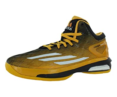 free shipping 89f5d 84f2b adidas Crazylight Boost Basketball Shoes for Men, Black White Gold