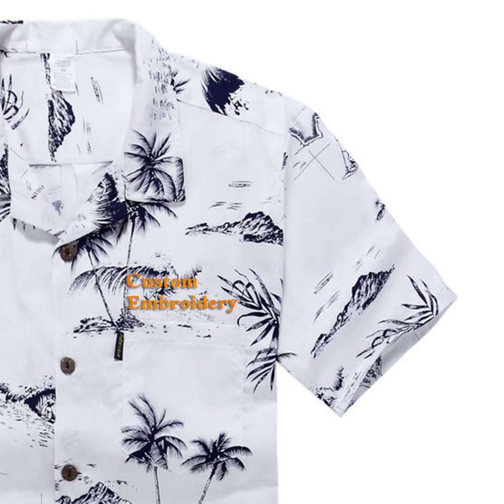 Men's Hawaiian Shirt Aloha Shirt Palm Wave 045110