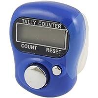 Sonline Compteur a doigt de remise a zero avec bande souple reglable Bleu