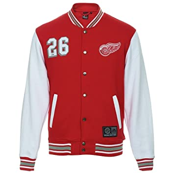 01e87aa27b9 NHL Detroit Red Wings Cotland Fleece Letterman Jacket (Majestic Athletic) ( XX-Large