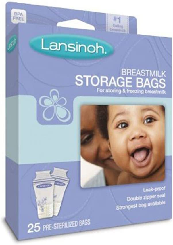 Lansinoh 20435 Breastmilk Storage Bags, 25-Count Boxes (PACK OF 2)