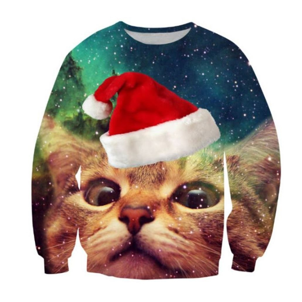 KSJK Unisex Funny Print Ugly Christmas Sweater Jumper SOHU Show KMAX-19
