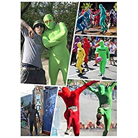 - 61dhEMGBqOL - Life In Color Lycra Spandex Bodysuit Full Bodysuit Unitard Men Zentai Suit Open Eyes and Mouth
