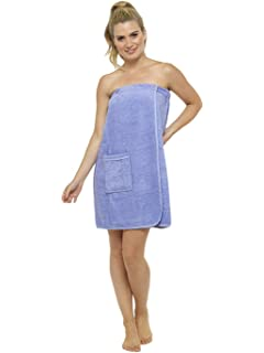 1b49650415 Ladies Towel Wrap 100% Cotton Highly Absorbent Terry Soft Sarong Towel  Shower Spa Sauna Beach