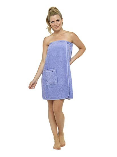 f33381576a Ladies Towel Wrap 100% Cotton Highly Absorbent Terry Soft Sarong Towel  Shower Spa Sauna Beach Gym Towelling Robe Cover-Up (LIlac
