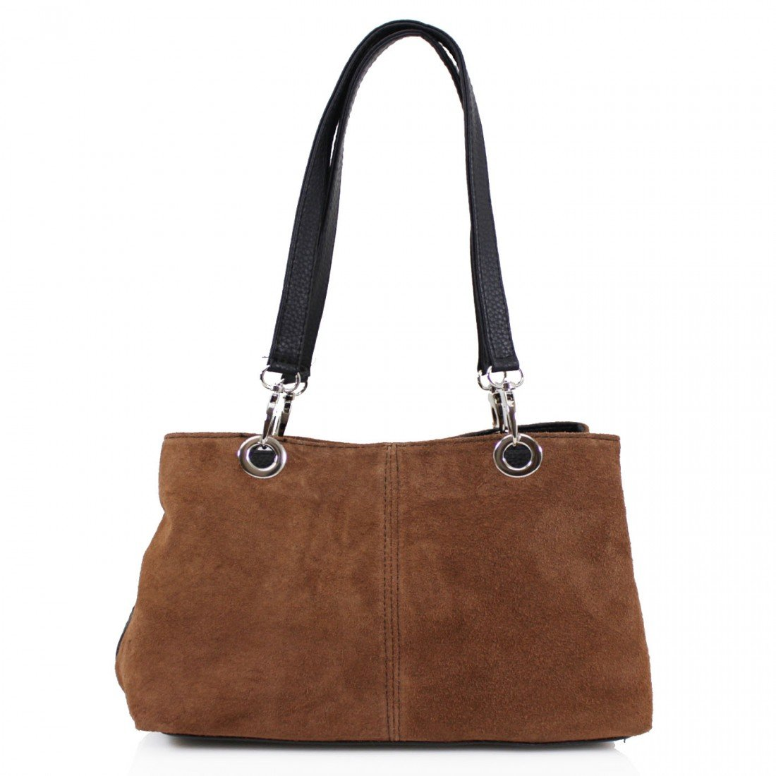 Clicktostyle Ladies Women Tripple Compartment Suede Shoulder Bags Girls Side Bags