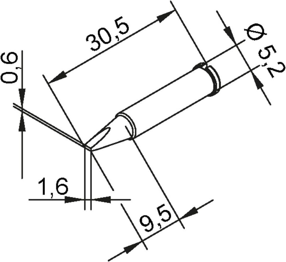 Ersa soldering tip ERSADUR 0102CDLF24//SB 2.4mm chisel shaped lead-free
