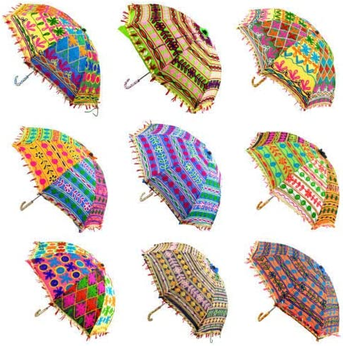 Set Of Pics Rajasthani Handicraft Jaipur Embroidery Work Decorative Wedding Umbrella for event home decor party /…