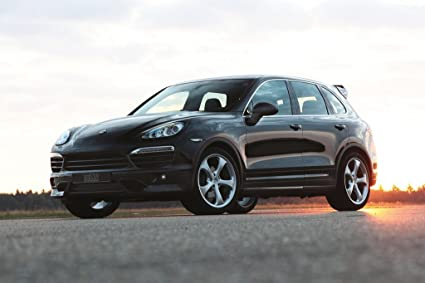 Porsche Cayenne S Diesel Techart Car Art Poster Print on 10 mil Archival Paper Black Front