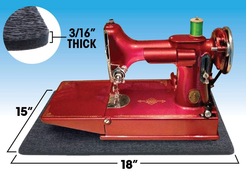 11 x 14 /& 15 x 18 Cottage Mills Stay-in-Place Machine Mats Calms Vibration and quiets Noise 2 Piece Set Sewing Machine /& Serger Mats
