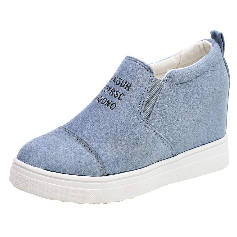 MYMYG Winter Schuhe fü r Damen Ankle Letter Zunehmende Keile Schuhe Kurze Stiefel Kurzschaft Casual Ankle Boot Slip-On Runde Runde Zehe Schuhe reizeit Outdoor MYMYG-311058WOMEN