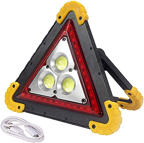EFGS LED 50w Portable Flood Light,car Triangle Warning Light, Outdoor Emergency Light for Camping, Fishing, Home 50w