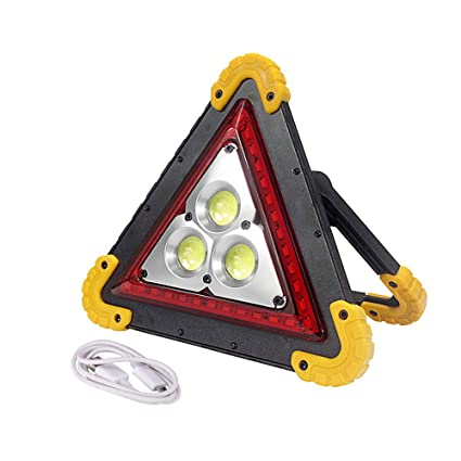 EFGS LED 50w Portable Flood Light,car Triangle Warning Light, Outdoor Emergency Light for Camping, Fishing, Home (50w)
