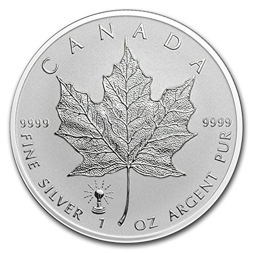 2018 CA Canada 1 oz Silver Maple Leaf Edison Light Bulb Privy 1 OZ Brilliant Uncirculated (Bulb 1 Leaf)