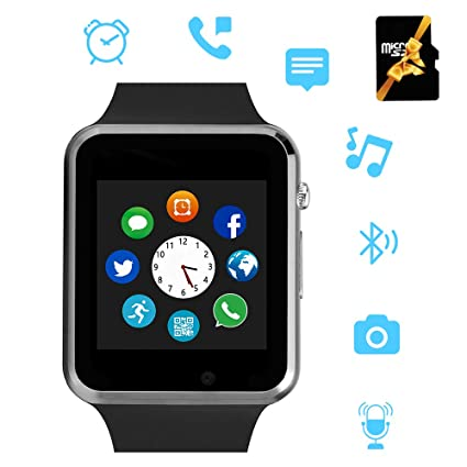 Hairao Smart Watch for bluetooth SmartWatch Compatible Android iOS Phones with Camera SIM Card Slot Phone Call/Message Sync Music Player Wrist Watch ...