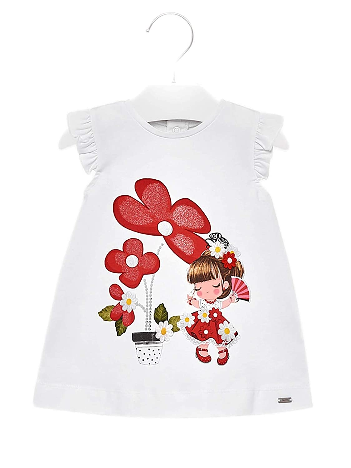322f53b45662b0 Amazon.com: Mayoral - Knit Dress for Baby-Girls - 1932, White-Red: Clothing