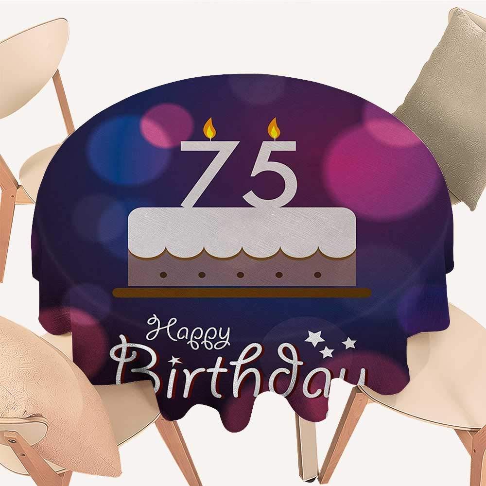 longbuyer 70回目の誕生日 ダイニングテーブルトップ 装飾 世界的 誕生日 おめでとう 抽象的な星 プリント ペールグリーンとバーミリオン D 70