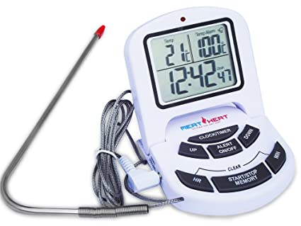 amazon com accurate bbq cooking thermometer with probe summer