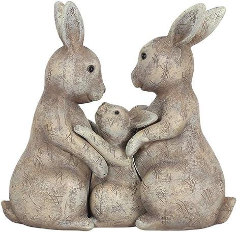 Vintage Bunny Rabbit Family Ornament Japan