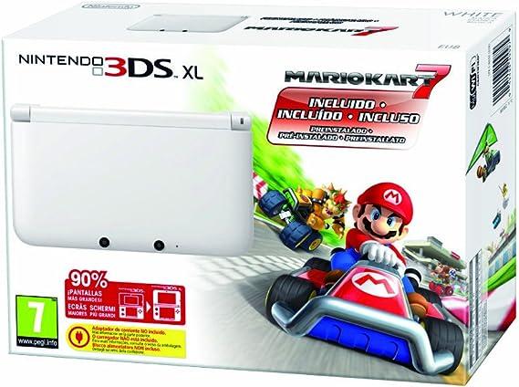 Nintendo 3DS - Consola XL - Color Blanco - Incluye Mario Kart 7 ...