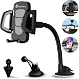 Phone Holder for Car, Vansky 3-in-1 Universal Cell Phone Holder Car Air Vent Holder Dashboard Mount Windshield Mount for iPho