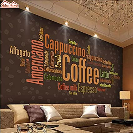 Zapatos Home-Coffee cartas Menú Arte Moda Tapiz Mural Rollos ...