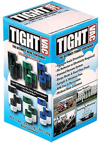 Tightpac America Tightvac with Box Black Caps/Clear Bodies (Set of 3)