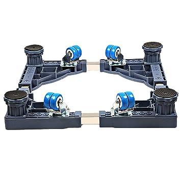 Soporte base Qiangzi Ajustable con 4 Ruedas Universal Ajustables Electrodomésticos Base para Su Lavadora Nevera (Estilo Opcional) para la Cocina del Cuarto ...